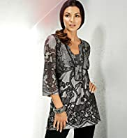 Per Una 3/4 Sleeve Embroidered Tunic with Vest