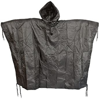 Poncho in Black : Camouflage Hunting Apparel : Sports & Outdoors