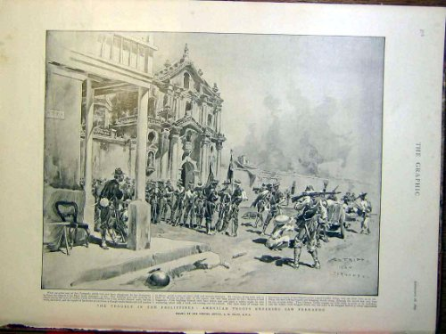 フィリピンのアメリカの軍隊サンフェルナンド Fripp 1899
