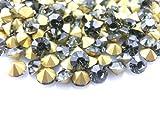 【ラインストーン77】超高級 ガラス製 Vカットストーン ブラックダイヤモンド 各サイズ.選択可 (3.0mm (SS12) 約50粒)