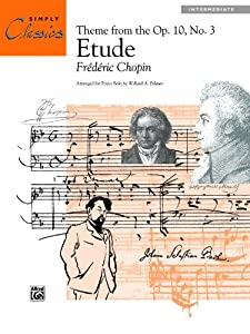 Etude Op 10 No 3 Theme Sheet Simply Classics Solos by Alfred Publishing Co., Inc.
