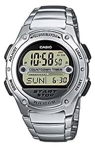Casio - W-756D-7A - Sports - Montre Mixte - Quartz Digital - Cadran LCD - Bracelet Acier Gris