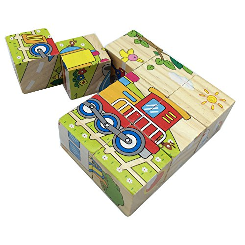 <B>Wooden Cube Block Jigsaw Puzzles</b>