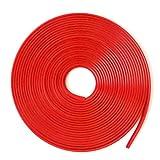 アルミホイール リム ガード テープ 1台分 8m カラフル ラインモール (レッド)