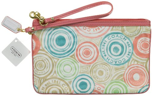 Coach   Coach Beach Print Large Flat Wristlet Wallet Case Bag 47320 Multi