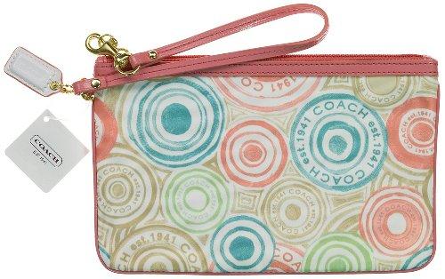 Coach  Coach Beach Print Large Flat Wristlet Wallet Case Bag 47320 Multi