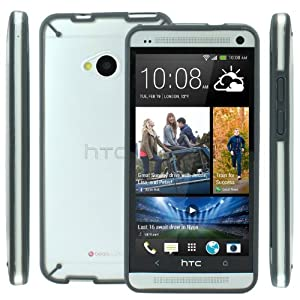 Poetic Atmosphere Case for HTC One M7 Clear/Gray (Update Version)(3 Year Manufacturer Warranty From Poetic)