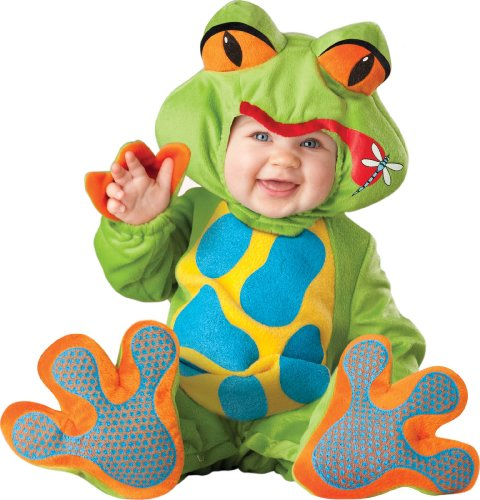 InCharacter Costumes Baby's Lil' Froggy Costume, Green/Blue/Yellow/Orange, Large (18-24 Months)