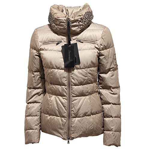 5624N giubbotto donna GEOSPIRIT tortora jacket coat woman [46]