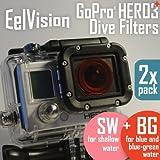GoPro HERO4 HERO3/3+ Dive Filters (2 pack: BG+SW) Red / Snorkeling / Diving / Snorkel / Underwater Color Correction