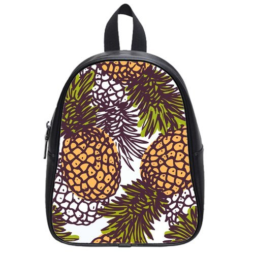 Anhome Art Painting Yellow Fresh Pineapple Pattern Fruit Custom School Bag/Backpack front-882004
