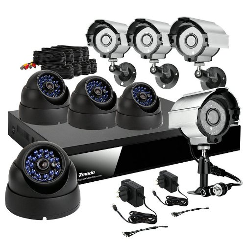 Image of Zmodo KDF8-NARCB44N-1T 8ch H.264 Dvr Security Surveillance Cctv Camera System