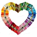 KINGSO 100PCS Mixed Color Polyester Cross Stitch Threads Embroidery Floss Sewing Art Craft