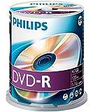 Philips DM 4 S 6 B 00 F/00 DVD-R Rohlinge (4.7 GB Data/120 min. Video, 16x High-Speed-Aufnahme, 100-spindle)