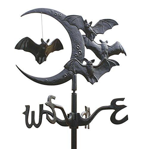 design-toscano-crescent-moon-vampire-bats-metal-weathervane-roof-mount