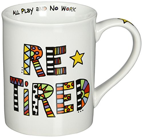 Funky Retired Coffee Mug. Perfect Gift Idea for Dad's Retirement