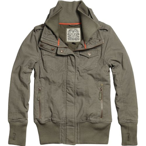 Fox Racing Le Tigre Girls Race Wear Jacket - Color: Olive Green, Size: Large