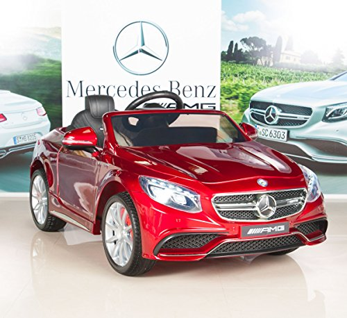 Mercedes-Benz S63 Ride on Car Kids RC Car Remote Control Electric Power Wheels W/ Radio & MP3 Red (Benz Car For Kids compare prices)