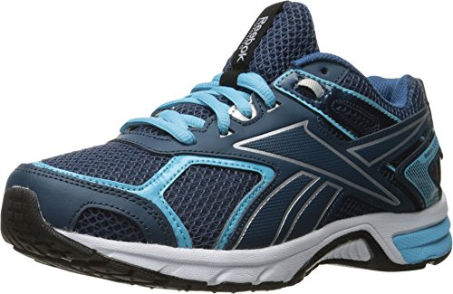 Reebok Women's Quickchase Running Shoe, Noble Blue/Crisp Blue/Silver/White, 7.5 M US (Reebok Running Shoes Women compare prices)