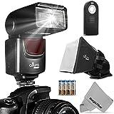 Altura Photo (AP-UNV1) Speedlite Flash Kit for Canon Nikon Sony Panasonic Olympus Fujifilm Pentax Sigma Minolta Leica and any Digital Camera with a Standard Hot Shoe Mount - Includes: Altura Photo Flash + Softbox Flash Diffuser + Universal Remote + MagicFiber Microfiber (Nikon D3200 D3100 D3000 D3300 D5000 D5100 D5200 D5300 D7000 D7100 D200 D300 D600 D610 D700 D750 D800, Canon T3i T4i T5i SL1 60D 70D 5D 6D 7D) + MagicFiber Microfiber Lens Cleaning Cloth