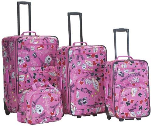 rockland-luggage-4-piece-printed-luggage-set-pink-vegas-medium