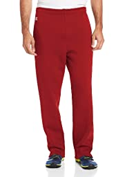 Russell Athletic Men\'s Dri-Power Fleece Open Bottom Pocket Pant, Cardinal, M