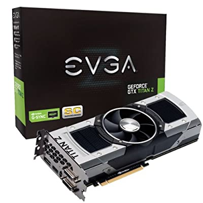 EVGA GeForce GTX TITAN Z 12GB SC GAMING, Fastest NVIDIA GPU Graphics Card 12G-P4-3992-KR