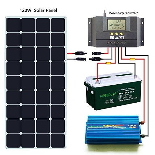Kingsolar 120 Watt 18 Volt Monocrystalline Sunpower Semi