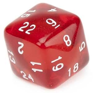 translucent 30 sided dice