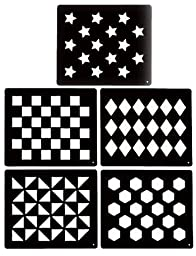 Tough-1 Groomer\'s Choice 5 Piece Stencil Kit