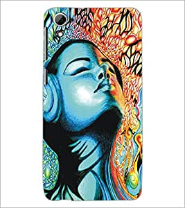 PrintDhaba Girly Design D-5321 Back Case Cover for HTC DESIRE 826 (Multi-Coloured)