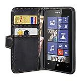 PEDEA Wallet Flip Case for Nokia Lumia 520 - Black