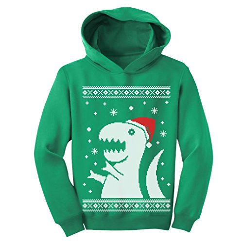 TeeStars - Big Trex Santa Ugly Christmas Sweater - Children Funny Toddler Hoodie 2T Green (Pics Of Ugly compare prices)
