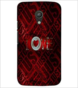 PrintDhaba Love D-4526 Back Case Cover for MOTOROLA MOTO G2 (Multi-Coloured)