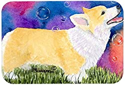 Carolines Treasures SS8751JCMT Corgi Kitchen or Bath Mat, 24 by 36 , Multicolor