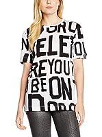 Love Moschino Camiseta Manga Corta (Blanco / Negro)