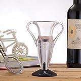 HSS Unique Wine Aerator Premium Aerating Pourer Diffuser Wine Decanter Set with Sediment Filter Special Design for Gifts