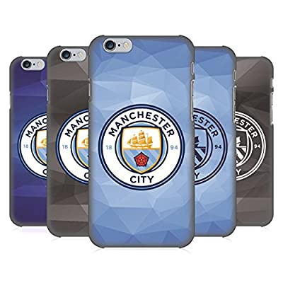 Official Manchester City Man City FC Badge Geometric Hard Back Case for Apple iPhone 6 / 6s