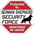 "German Shepherd Dog Yard Sign ""Security Force German Shepherd"""