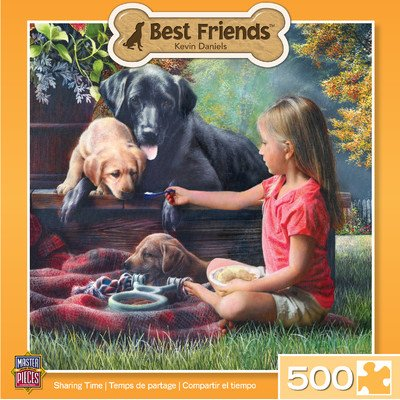 MasterPieces Best Friends Sharing Time Jigsaw Puzzle, 500-Piece