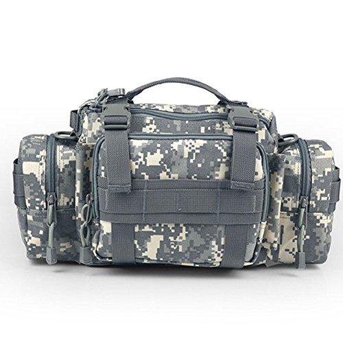 YAAGLE Outdoor Hüfttasche 3P Nylon Schultertasche Kuriertasche Umhängetasche Freizeit Reisetasche Sporttasche-Tarnung 5