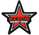 Rockstar Energy Drink Patches Star Iron on Patch Racing Patches Embroidered Iron on Patch style05
