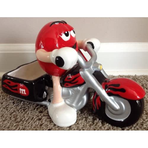Amazon.com : M&M Ceramic Motorcycle Candy Dish : Everything Else