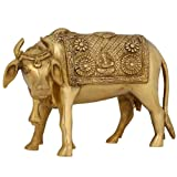 Animal Ornaments For The Home Cow Decor Brass Hindu Religious Icon 6 Inches