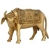 Adornos De Animales Para El Icono Religioso Hindú Vaca Casa Decoración Latón 15,24 Cm