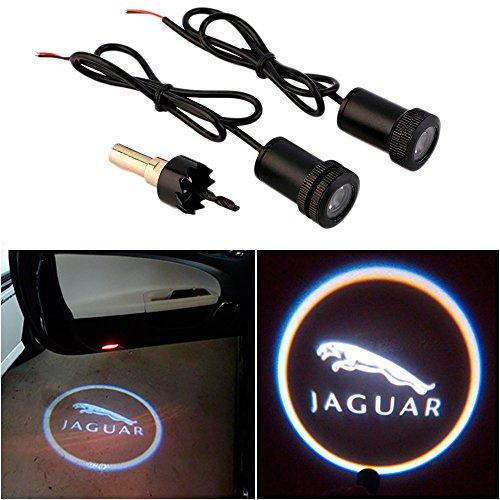 WONFAST® For JAGUAR Car Auto Laser Projector Logo Illuminated Emblem Under Door Step courtesy Light Lighting symbol sign badge LED Glow Performance (Jaguar X Type Accessories compare prices)