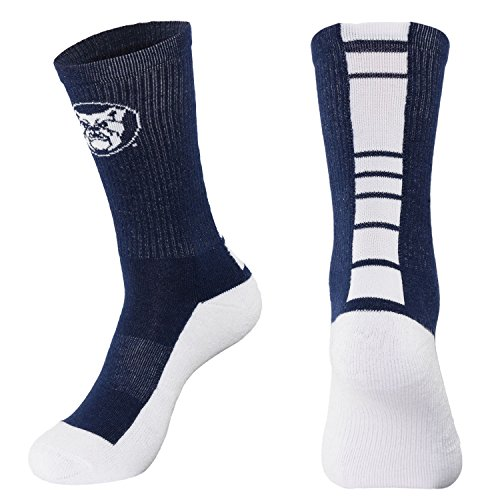 NCAA Butler Bulldogs Men's Champ Performance Crew Socks, Navy Blue, Large (Bulldog Blues compare prices)