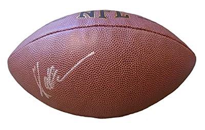 Marcus Allen Autographed / Signed NFL Wilson Football w/ Proof Photo, Los Angeles Raiders, Kansas City Chiefs, USC Trojans, 1981 Heisman Trophy Winner, COA