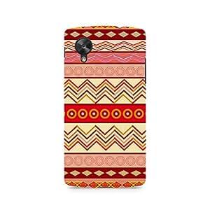 Motivatebox- Tribal Chevron Premium Printed Case For LG Nexus 5 -Matte Polycarbonate 3D Hard case Mobile Cell Phone Protective BACK CASE COVER. Hard Shockproof Scratch-