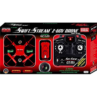 Swift Stream Indoor/Outdoor Z-6 CV Camera Drone, Red from Swift Stream